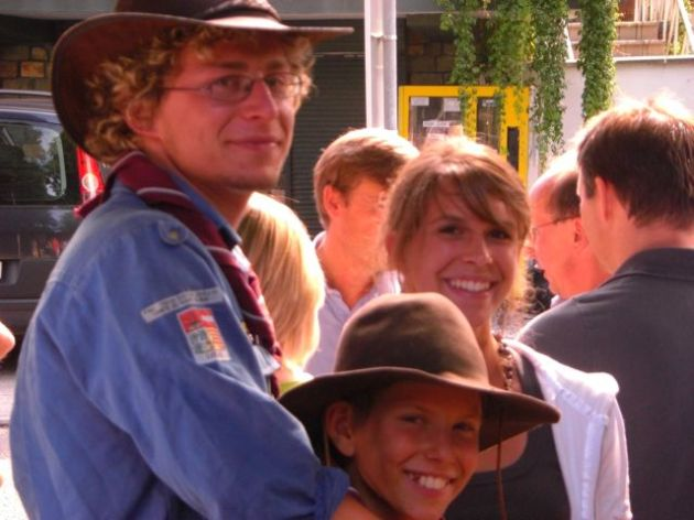 Robin, Lucie, Pierre - retour des scouts